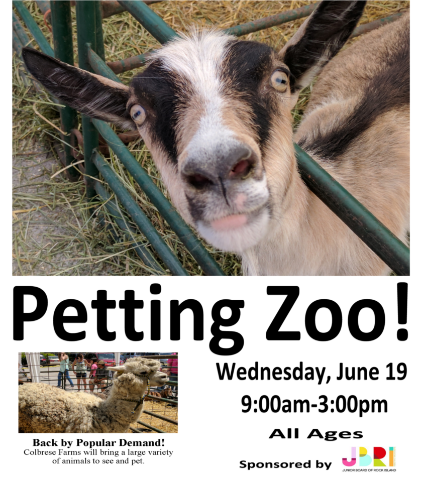 Petting Zoo - June 19 from 9am to 3pm